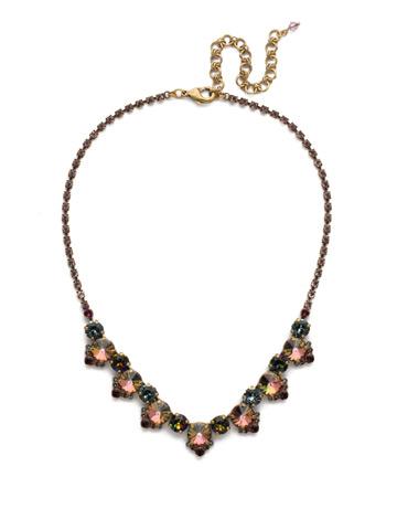 Manzanita Necklace in Antique Gold-tone Royal Plum