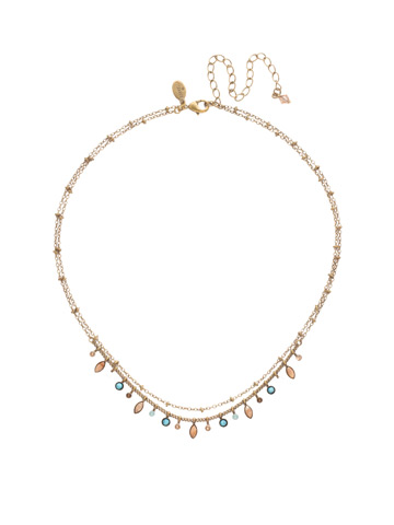 Rina Delicate Necklace in Antique Gold-tone Driftwood