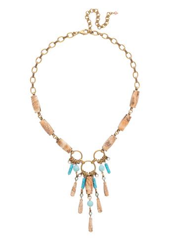 Sarita Statement Necklace in Antique Gold-tone Driftwood