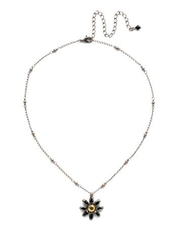 Celestina Pendant Necklace in Antique Silver-tone Heavy Metal