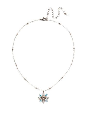 Celestina Pendant Necklace in Antique Silver-tone Silky Clouds