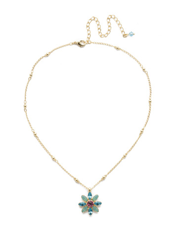 Celestina Pendant Necklace in Bright Gold-tone Candy Pop