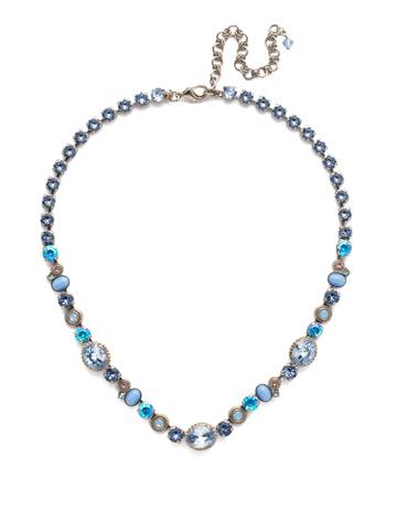 Ricciarda Classic Line Necklace in Antique Silver-tone Pastel Prep