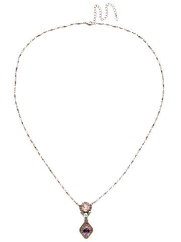 Giulia Pendant Necklace in Antique Silver-tone Stargazer