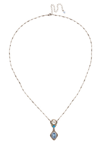 Giulia Pendant Necklace in Antique Silver-tone Pastel Prep