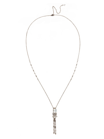 Beretta Long-Strand Necklace in Antique Silver-tone Polished Pearl