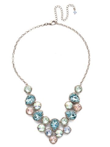 Armina Necklace in Antique Silver-tone Pastel Prep
