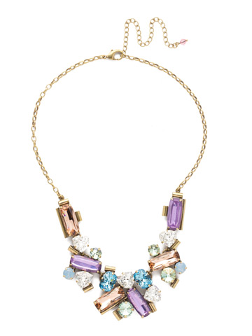 Fabiana Necklace in Antique Gold-tone Bohemian Bright