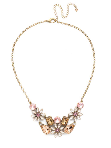 Alessia Necklace in Antique Gold-tone Beach Comber