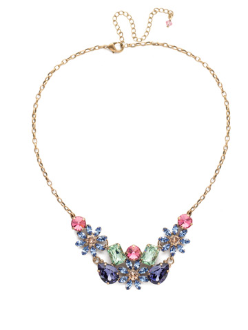 Alessia Necklace in Antique Gold-tone Bohemian Bright