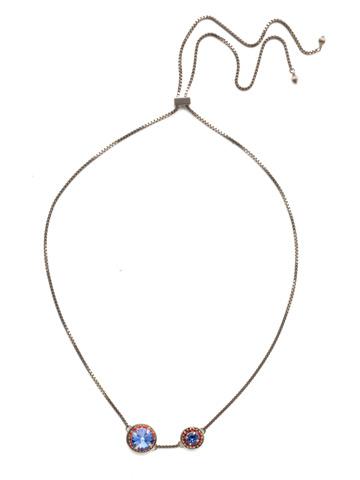 Dua Adjustable Choker Necklace in Antique Silver-tone Orange Crush