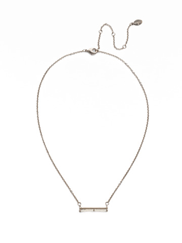 Elena Classic Necklace in Antique Silver-tone Polished Pearl