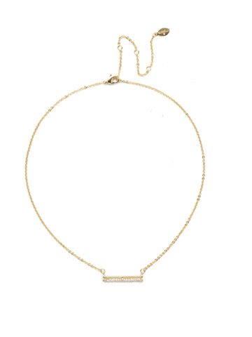 Elena Classic Necklace in Bright Gold-tone Polished Pearl
