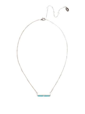 Elena Classic Necklace in Rhodium Tahitian Treat