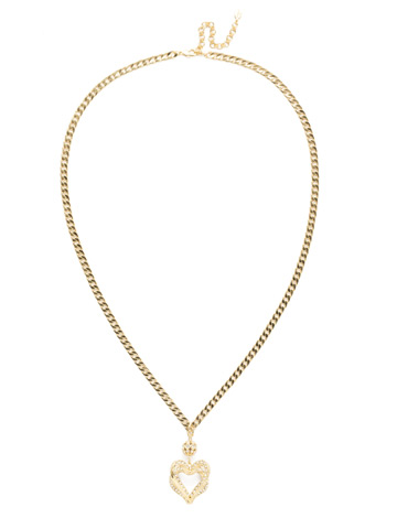 Adelynn Long Strand Necklace in Bright Gold-tone Polished Pearl