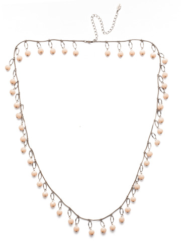 Milana Long Strand Necklace in Antique Silver-tone Silky Clouds