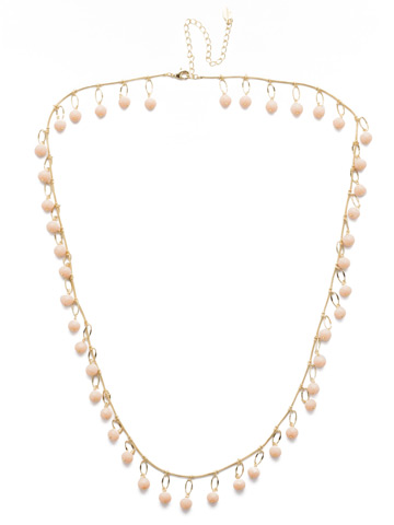 Milana Long Strand Necklace in Bright Gold-tone Silky Clouds