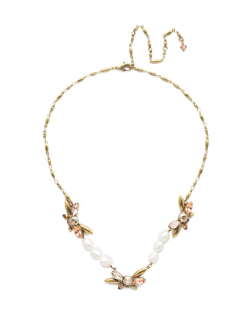 Elisa Necklace in Antique Gold-tone Beach Comber