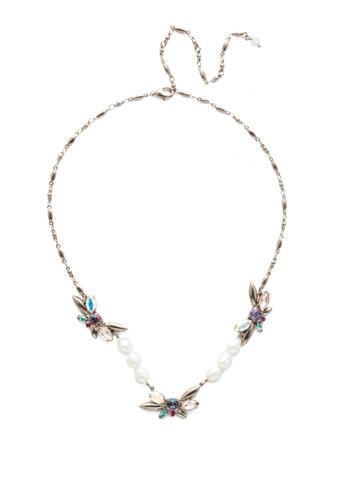 Elisa Necklace in Antique Silver-tone Stargazer