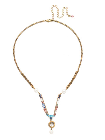 Aryana Necklace in Antique Gold-tone Bohemian Bright