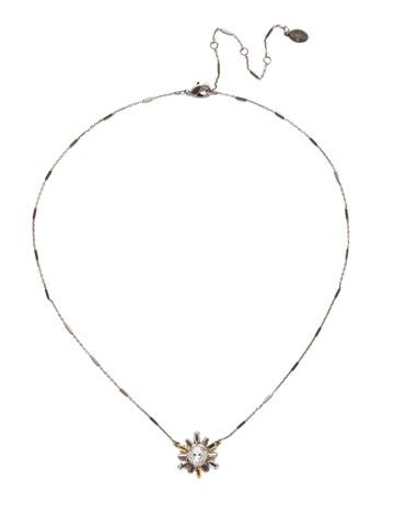 Luna Pendant Necklace in Antique Silver-tone Heavy Metal