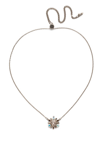 Luna Pendant Necklace in Antique Silver-tone Silky Clouds