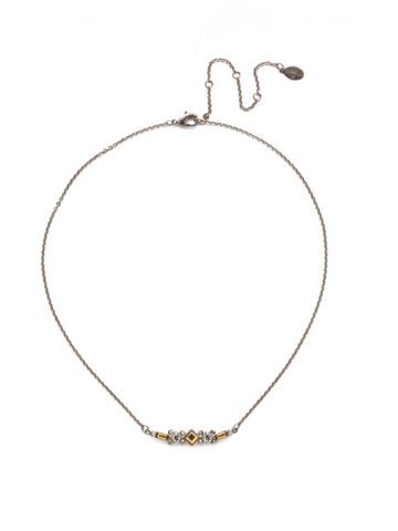 Sadie Classic Necklace in Antique Silver-tone Heavy Metal