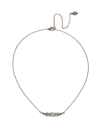 Sadie Classic Necklace in Antique Silver-tone Silky Clouds