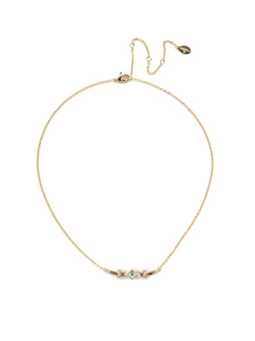 Sadie Classic Necklace in Bright Gold-tone Silky Clouds