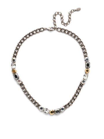 Cheney Classic Necklace in Antique Silver-tone Heavy Metal