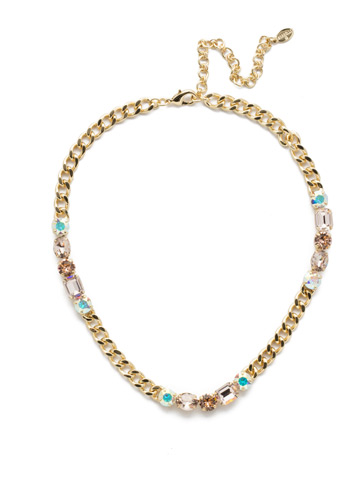Cheney Classic Necklace in Bright Gold-tone Silky Clouds