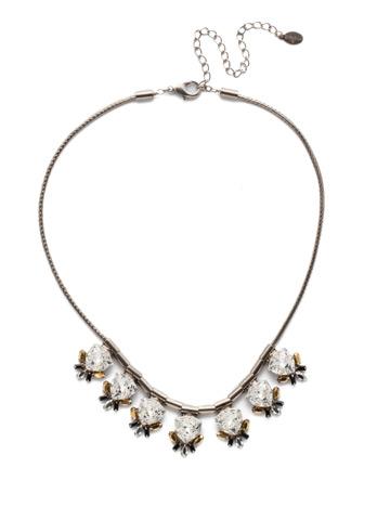 Skylar Line Necklace in Antique Silver-tone Heavy Metal