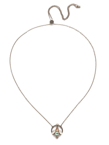 Alivia Adjustable Choker Necklace in Antique Silver-tone Silky Clouds