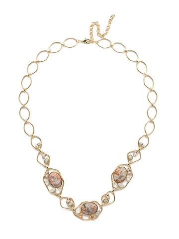 Presley Long Strand Necklace in Bright Gold-tone Silky Clouds