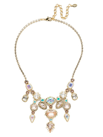 Ursula Statement Necklace in Bright Gold-tone Silky Clouds