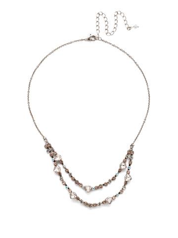 Sedge Mini Bib Necklace in Antique Silver-tone Silky Clouds