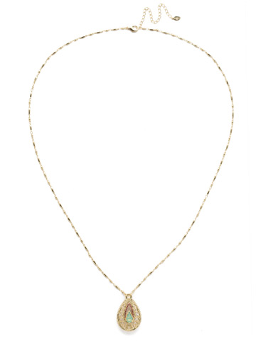 Fiona Long Strand Pendant in Bright Gold-tone Candy Pop