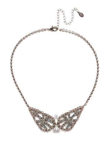 Karissa Statement Necklace in Antique Silver-tone Silky Clouds