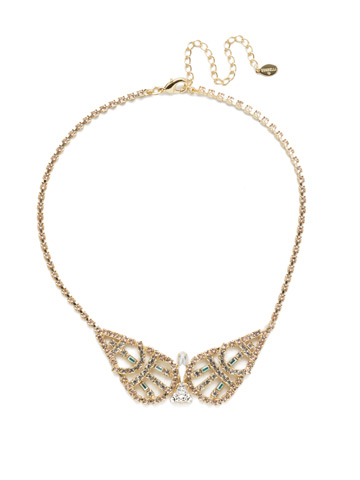 Karissa Statement Necklace in Bright Gold-tone Silky Clouds