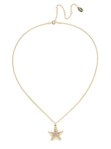 Astaria Pendant Necklace in Bright Gold-tone Silky Clouds