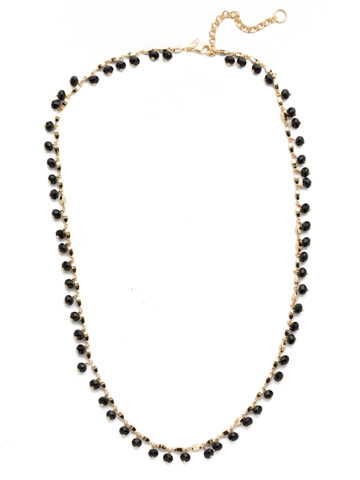 Marjorie Long Strand Necklace in Bright Gold-tone Jet
