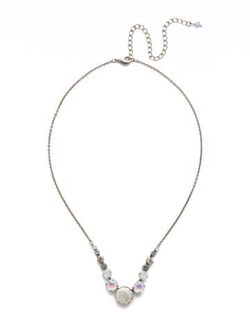 Meera Classic Necklace in Antique Silver-tone Glacier