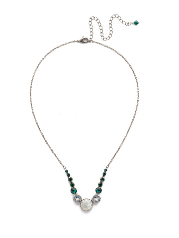 Meera Classic Necklace in Antique Silver-tone Snowy Moss