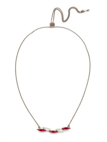 Cersei Classic Necklace in Antique Silver-tone Crimson Pride