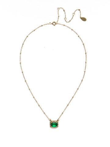 Meera Pendant Necklace in Antique Gold-tone Game of Jewel Tones