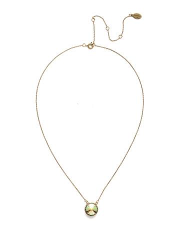 Soleil Pendant Necklace in Antique Gold-tone Game of Jewel Tones