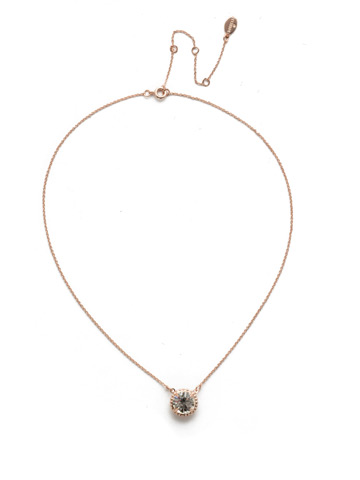 Soleil Pendant Necklace in Rose Gold-tone Crystal
