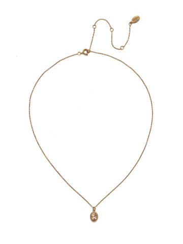 Maisie Pendant Necklace in Antique Gold-tone Rocky Beach