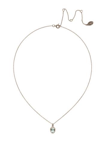 Maisie Pendant Necklace in Antique Silver-tone Light Aqua
