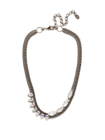 Brienne Classic Necklace in Antique Silver-tone Glacier